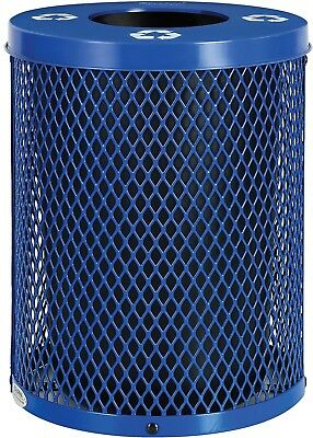 Global Industrial Thermoplastic 32 Gallon Mesh Recycling Receptacle W/Flat Lid