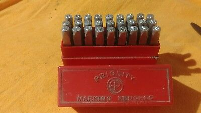 PRIORITY LETTERS MARKING PUNCHES STAMPS vintage letter punches