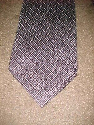 Men's Tie 100% Silk Neck Tie Cocktail Collection Made USA Blue Black White Gray