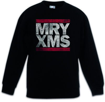 MRY XMS Kids Boys Girls Pullover Merry Xmas Christmas Fun Letters