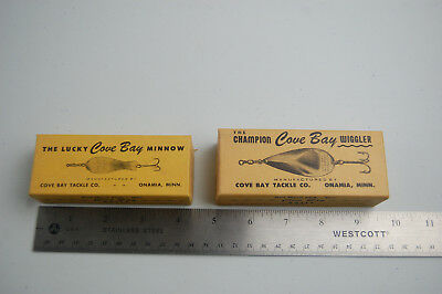 Vintage Pair of Cove Bay Lures in Original Boxes, Lucky & Champion, Onamia, Minn