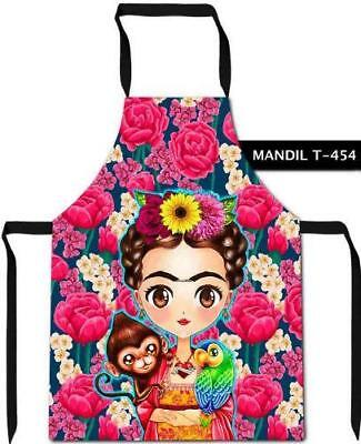 Frida Kahlo Parrot and Monkey Apron