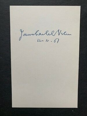 Rare - Jawaharlal Nehru - 1St Prime Minister Of India / Freedom Fighter