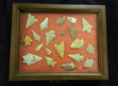 (20) Authentic Arrowheads North American Indian Artifacts Stone Tools Points