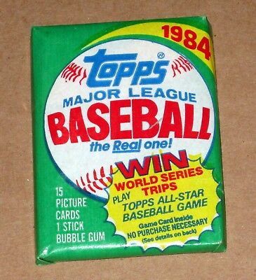 ONE UNOPENED TOPPS 1984 BASEBALL WAX PACK Possible Don Mattingly Rookie card