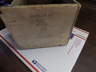 Vintage Hercules Powder Co High Explosives Dynamite TNT Wood Box Wooden Crate