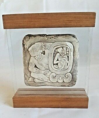Souvenir Paperweight from Palace Tablet Palenque Glyph Sun God Spider Monkey