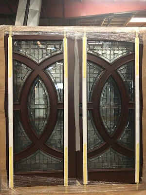 Holiday Sale!!Solid Wood Mahogany Front Unit Pre-hung &Finished DMH7588-6 GL18