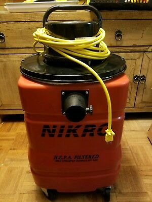 NIKRO HEPA 15 Gallon Vacuum PD15110 Dry With Attachments!