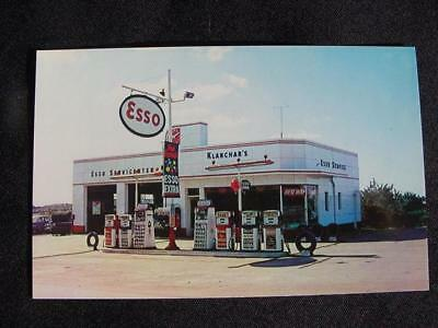 Vintage NOS 1950's-1960's Esso Gas Station Route 30 Lincoln Highway Postcard