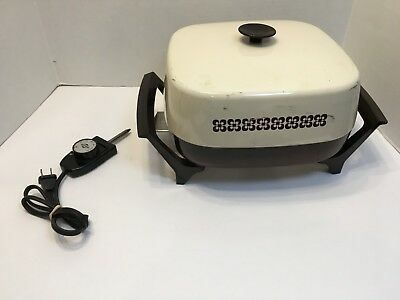 """Vintage West Bend 12"""" Electric Skillet Fry Frying Pan High Dome 72129X"""
