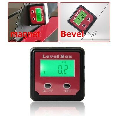 360° Digital Inclinometer Spirit Level Box Protractor Angle Finder Gauge Bevel