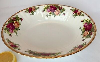 ROYAL ALBERT Oval Serving Bowl OLD COUNTRY ROSES Gold Trim Bone China ENGLAND 9""