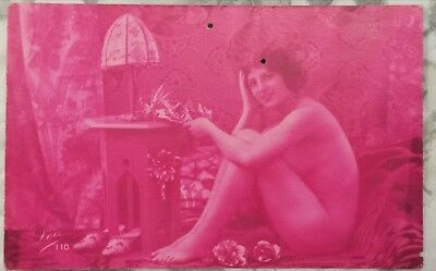 Rare original old French real photo postcard Art Deco nude study 7