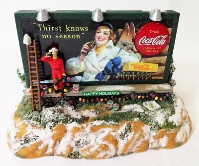 COCA COLA WINTER BILLBOARD LIGHT-UP MUSICAL BANK -1940s CC IMAGE-1996 NEW IN BOX