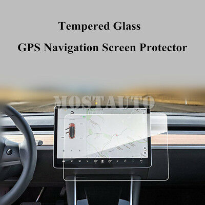 For Tesla Model 3 15'' Tempered Glass GPS Navigation Screen Protector  2016-2018