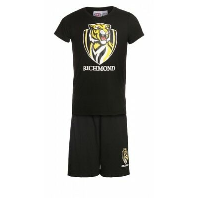 Richmond Tigers Official AFL Summer Youth Pyjamas Set