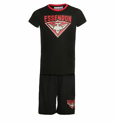 Essendon Bombers Official AFL Summer Youth Pyjamas Set