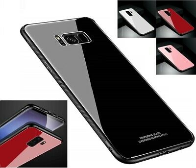 New Back Tempered GLASS Shockproof Hybrid Case For Samsung Galaxy S7 S8 S9 Note