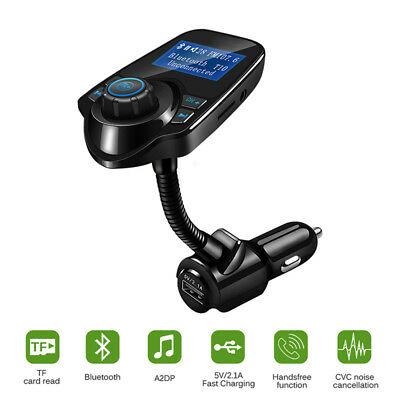 Bluetooth Wireless LCD Car MP3 FM Transmitter AUX USB Disk Charger Handsfree Kit