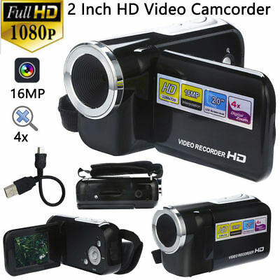 FULL HD 1080P 16MP 2 Inch LCD 4X ZOOM Handheld Digital Video DV Camera Camcorder