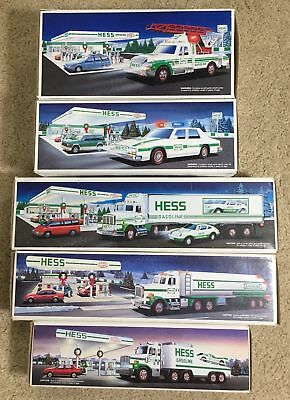 Vintage Hess Truck Lot Collection with Boxes Year 1988, 1990, 1992, 1993, 1994