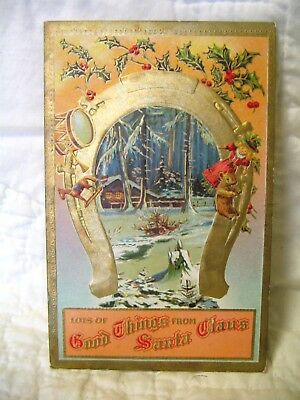 Estate Sale~ Vintage Christmas Postcard - Lots of Good Things from Santa Claus