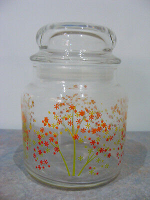 Vintage Retro Airtight Glass Kitchen Storage Jar - VGC