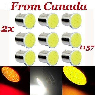 2x 1157 BAY15D P21W Car LED White, Red, Amber Lamp COB 12 SMD 12V