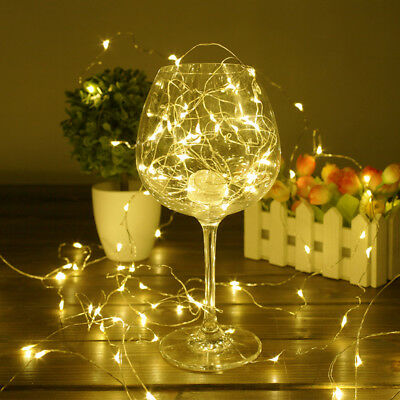 USB Plug In 10/20M 50/200 LED Fairy String Copper Wire Light Wedding party NJE