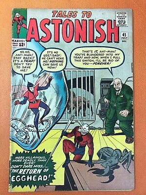 1963 Marvel TALES TO ASTONISH #45 * ANTMAN & WASP vs EGGHEAD * Solid!