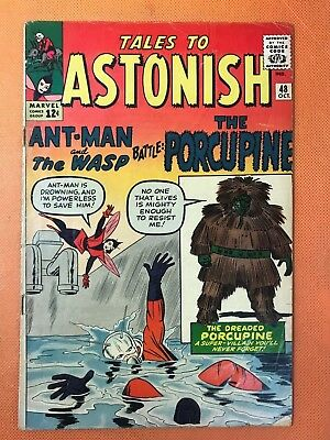 1963 Marvel TALES TO ASTONISH #48 * ANTMAN & WASP *1st PORCUPINE* Nice & Solid!