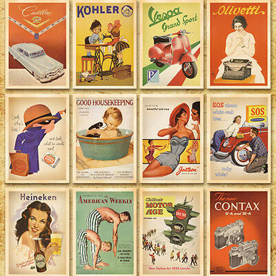 32Pc/Lot* Travel Postcard Vintage European and American Picture Poster Post Card
