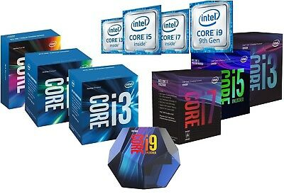 Intel Core i3 i5 i7 i9 8400 8500 8600K 9600K 8700K 9900K Processor Desktop CPU