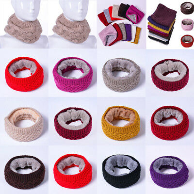 Women Ladies Fashion Knitted Soft Snood Neck Circle Warm Winter Wool Cowl Scarf