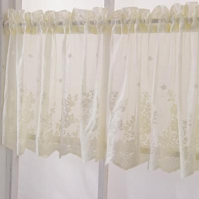 Korean Type Lace Jacquard Small Short Window Curtain For Kitchen Cafe Decoration