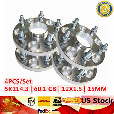 """Hubcentric Wheel Spacers5x114.3 1.25/"""" 60.1 32mm 12x1.5for Lexus Toyota"""