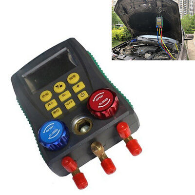 Digital Display Car Air Conditioning Refrigerant Pressure Manifold Gauge Group