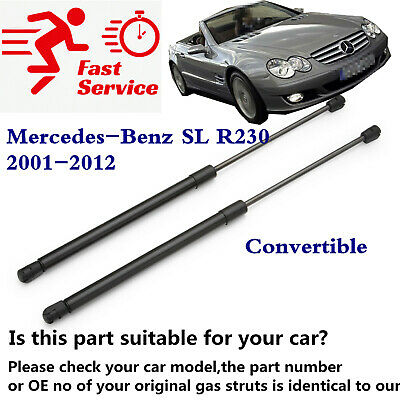 2X TAILGATE BOOT SUPPORT GAS STRUTS 418mm MERCEDES SL R230 2001-2012 2309800264