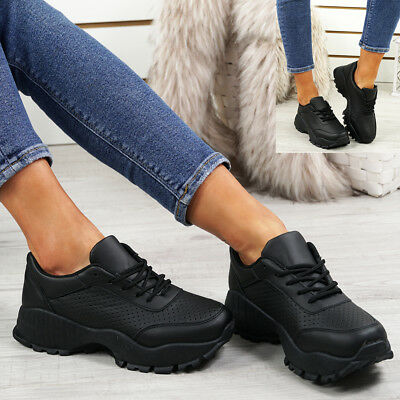 Ladies Womens Running Sneakers Trainers Lace Up Plimsolls Gym Shoes Size Uk