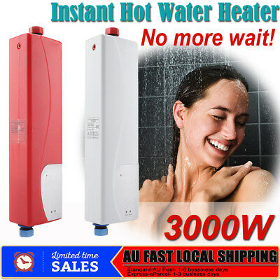 Portable Instant Electric Hot Water Heater System Under Sink Tap Faucet AU Plug