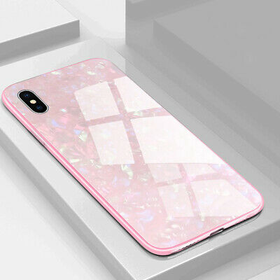 Shockproof Tempered Glass Back Hybrid Hard Case For iPhone XS Max XR XS X 8 Plus