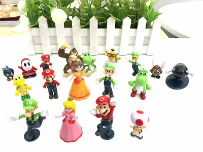 NEW  Lot 18pcs Super Mario Bros Action Figure Doll Playset Figurine Gift