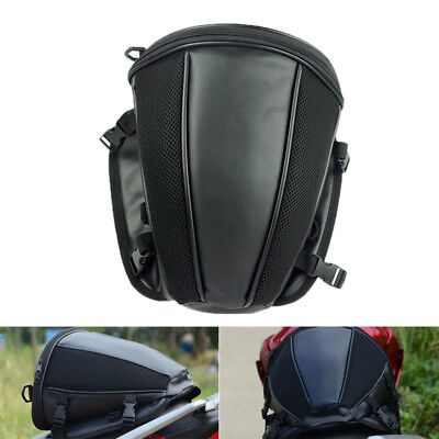 Motorcycle Tail Bag Back Seat Storage Carry Hand Shoulder Waterproof Saddle Bag