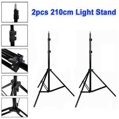 2 x 2.1m Pro Photo Studio Light Stand Tripod Photography Video Lighting Support