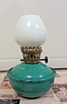 Vintage Small Non Tip Oil Lamp Made In England