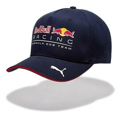 Puma Red Bull Curved Brim Cap Hat F1 Official Racing Team Blue RRP £65 Authentic
