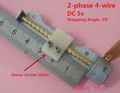 Mini Stepper Motor DC 5v 2 phase 4-wire linear lead screw shaft nut slider