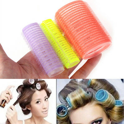 6x/Set Big Self Grip Hair Rollers Cling Any Size DIY Hair Curlers Color Random