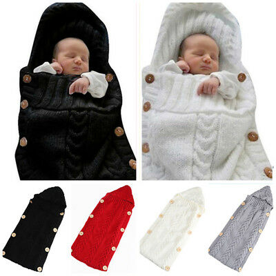 0-6 Months Infant Knitted Newborn Baby Sleeping Bag Swaddle Blanket Wrap Nice